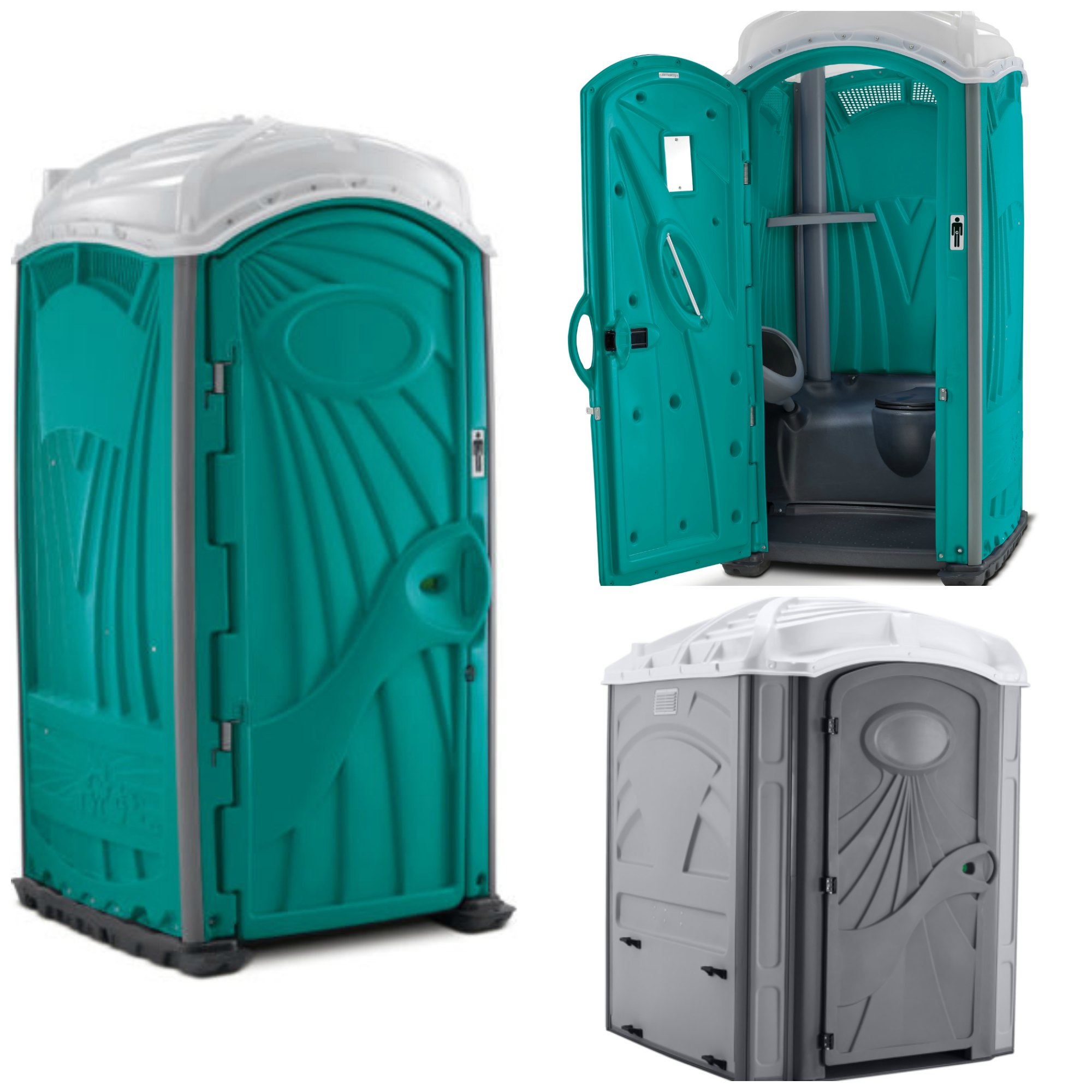 Portable toilet collage